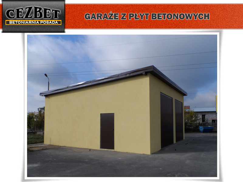 Betoniarnia Posada Tanie Garaże Betonowe Z Płyt Cezbet